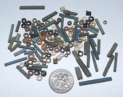 More than a Hundred 2500 Year old Ancient Egyptian Faience Mummy Beads (#G3662)