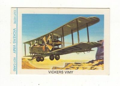 Tip Top Bread - Great Sunblest Air Race Cards.Vickers Vimy