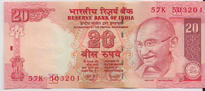 India 50R banknote 2008 Reddy Governor Uncirculated 57K