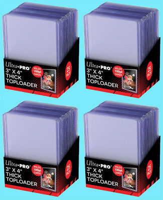 100 Ultra Pro 3x4 100PT THICK TOPLOADERS NEW Rigid Hard Trading Card Sleeves