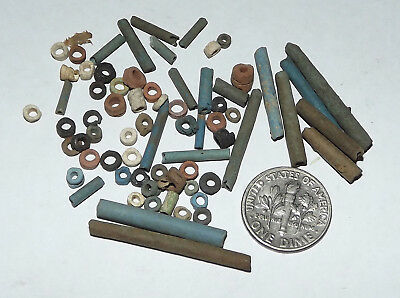 More than Fifty 2500 Year old Ancient Egyptian Faience Mummy Beads (#G3671)