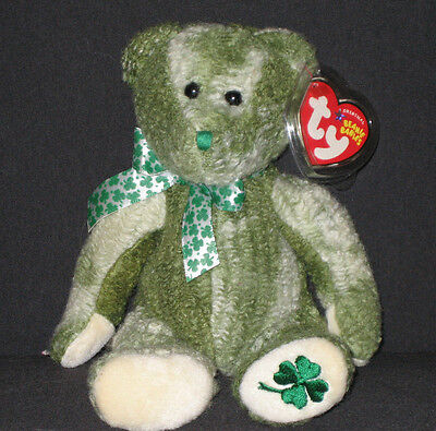 TY McWOOLY the BEAR BEANIE BABY - MINT with MINT TAGS