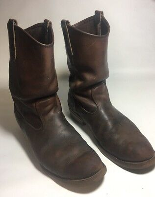 efe914131b9 VTG RED WING Leather Motorcycle PECOS Biker Cowboy Western Mens Boots 9 C
