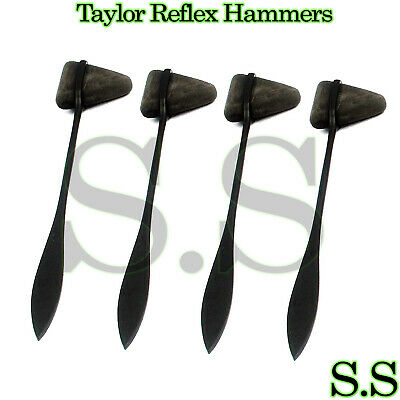 Set of 4 BLACK Taylor Percussion (Reflex) Hammers - Medical Surgical Instruments