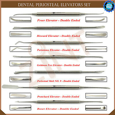 Set of 7 Periosteal Elevators Surgical Sinus Lift Implant Surgery Instruments CE