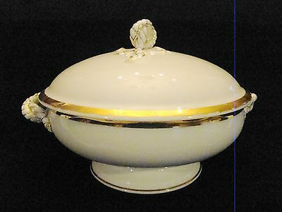 Early Haviland Limoges Porcelain Round Shape Rope & Anchor Round Covered Tureen