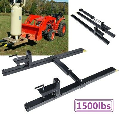 """43"""" 1500lbs Capacity Clamp on Pallet Forks Loader Bucket Skidsteer Tractor Chain"""