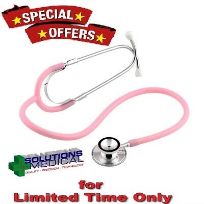 Stethoscope Broad Range Doctors Dual Head Pink X 1