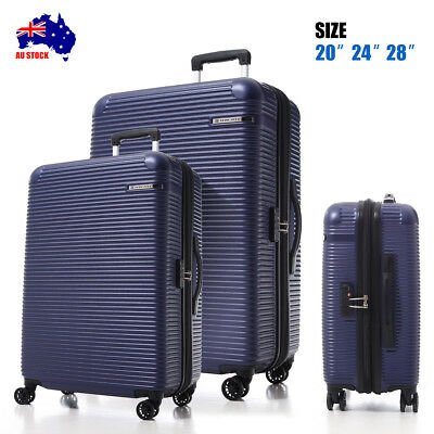 3 Pcs Luggage Set Expandable ABS Spinner Suitcase Light Weight Travel Carry Bag