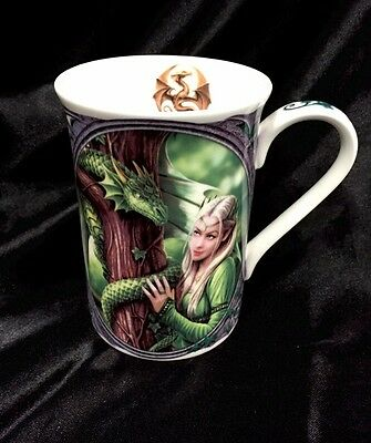 Anne Stokes Kindred Spirits Dragon Friendship Collection Fine Bone China Mug Cup