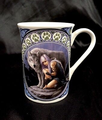 Anne Stokes Protector Wolf Pack Collection  Fine Bone China Mug Cup