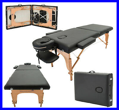 Massage Imperial® Black Charbury Portable Massage Table Couch Beauty Reiki