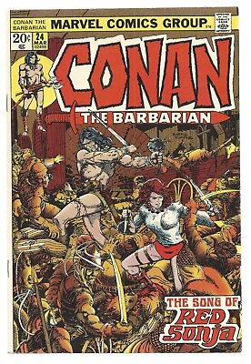 Conan The Barbarian 24, 1st full Red Sonja; last Barry Smith Art FREE SHIPPING