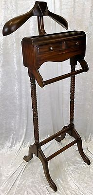 Beautiful Solid Mahogany Gentleman's Valet Stand.