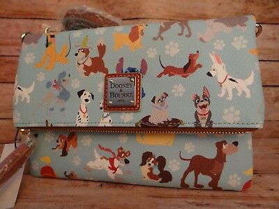 Disney Dogs Dooney & Bourke Foldover Crossbody -NWT
