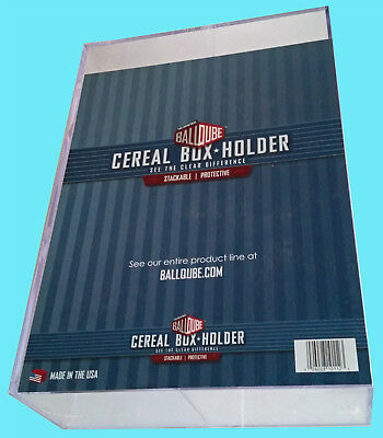 BALLQUBE Collectible CEREAL BOX Wheaties Size DISPLAY Case Protector Holder NEW