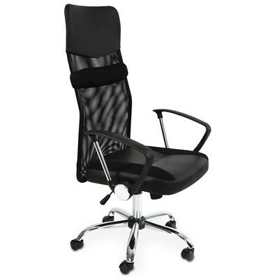 Armchair Office Computer Executive Chair Height Adjustable Faux Leather Nylon
