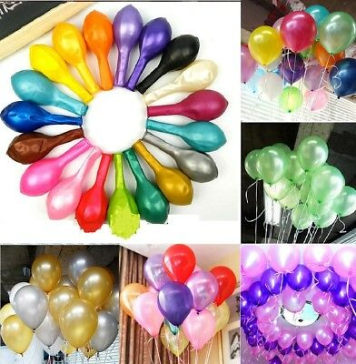 100pcs Pearl Latex Helium Ballons Wedding Birthday Party Celebration Decoration