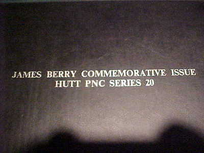 """1971 Hutt Ltd Pnc 20 Uncirculated 12 Of 100 James Berry 3 Covers 14""""x10"""""""
