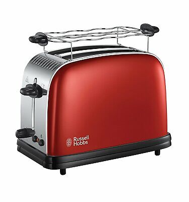 RUSSELL HOBBS 23330-56 Colours Plus+ Flame Red Toaster 6 Stufen 1670 W Rot