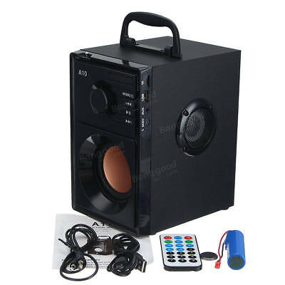 A10 Bluetooth Wireless Stereo Speaker FM Radio Support TF USB with Remote Contro