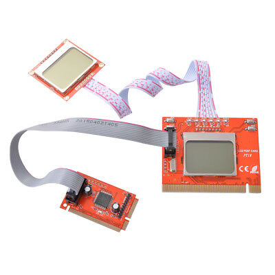 PC Motherboard PCI Diagnostic Post Debug Tester Test Card LCD Screen Red AC540