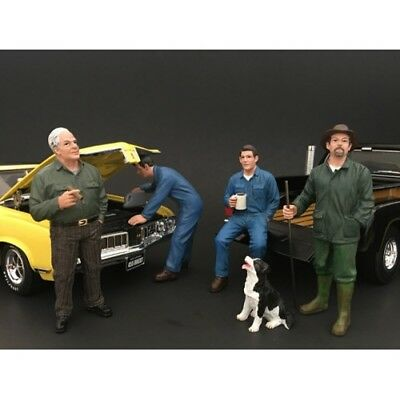 1/18 scale - New MECHANIC SET OF 4 FIGURES - AMERICAN DIORAMA- figure/figurine