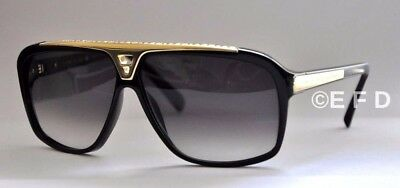 New Authentic Louis Vuitton Evidence Sunglasses Z0350W Black Gold - Italy