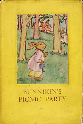BUNNIKIN'S PICNIC PARTY Vintage Ladybird Book Animal Rhymes 401 First Edition
