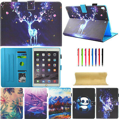 Fr iPad Pro 10.5 Painted Pattern Card Slot Photo Frame Stand Magnetic Case Cover
