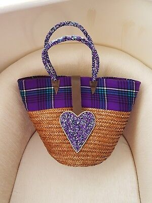 Basket African Handmade Bag Picnic/ Kiondo Basket HANDBAG Holiday Bag