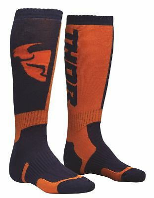 Thor MX Socks Motocross Enduro Kniestrümpfe Socken blau/orange