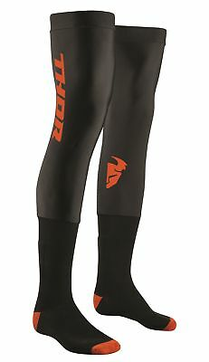 Thor Knee Brace Comp Socks Motocross Enduro Strümpfe Beinlinge schwarz/orange