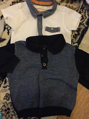 Two Next Baby Boy Shirts 6-9 Months