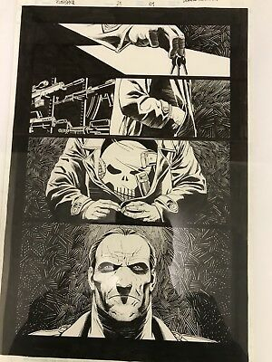 Fernandez Original Art Punisher Max