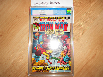 Iron Man #55 1st Appearance of Thanos  CGC 9.0 Old Label