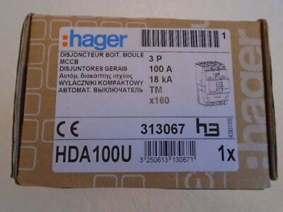 Hager Hda100U 3 Pole Mccb Brand New In Box £45 With Free Postage