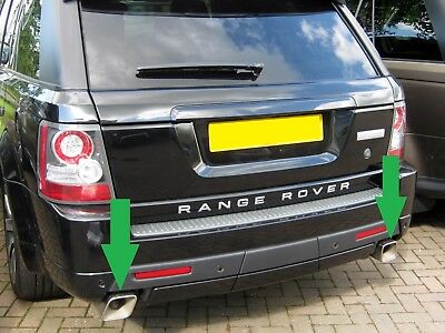 Range Rover Sport Autobiography Stainless Steel Exhaust Tips Tail Pipes - Diesel