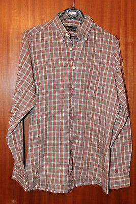 Vintage Ben Sherman shirt, green-red-white checked, size S, long sleeve