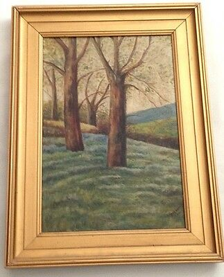 Original Oil Painting Landscape on Canvas 1920's Antique - Signed - Gilt Framed