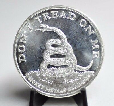 Don't Tread on Me - 1773 Boston Tea Party 1oz .999 Fine Silver Art Round [12DU]