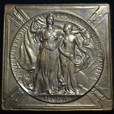 1904 Louisiana Purchase Exposition, Silver Award Medal Struck In Bronze, H-30-50