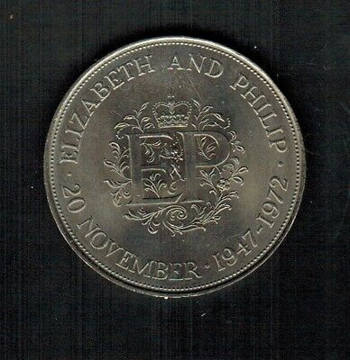 Great Britain 1 Crown CuNi Coin 1972 Brilliant Uncirculated