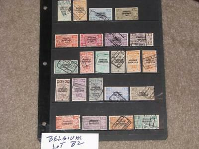 Belgium-Parcel Post  Overprints-most are used, Lot B2