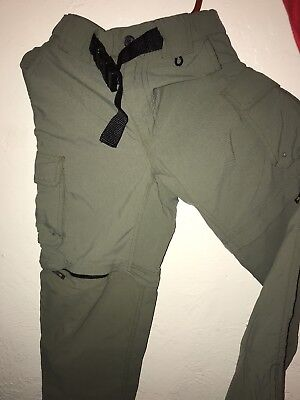 Boy Scouts Of America Switchback Convertible Green Uniform Pants Youth Small
