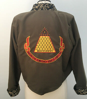 Desperately Seeking Susan inspired jacket Gold Pyramid Madonna costume XS - 5X