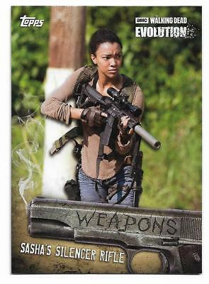 2017 Topps The Walking Dead EVOLUTION Weapons Insert W-6 Sasha's Silencer Rifle