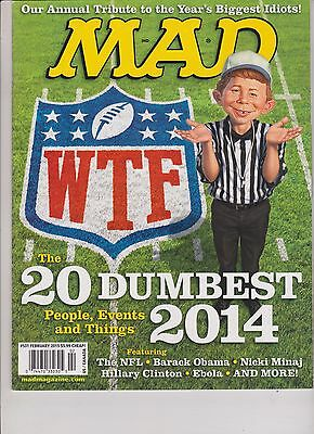 Mad Magazine #531 February 2015,The 20 Dumbest People,Events And Things 2014.