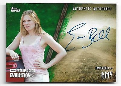2017 Topps The Walking Dead EVOLUTION Autograph A-EB Emma Bell as Amy #5/25