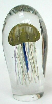 Paperweight,Unikat, Qualle, Meduse Signiert